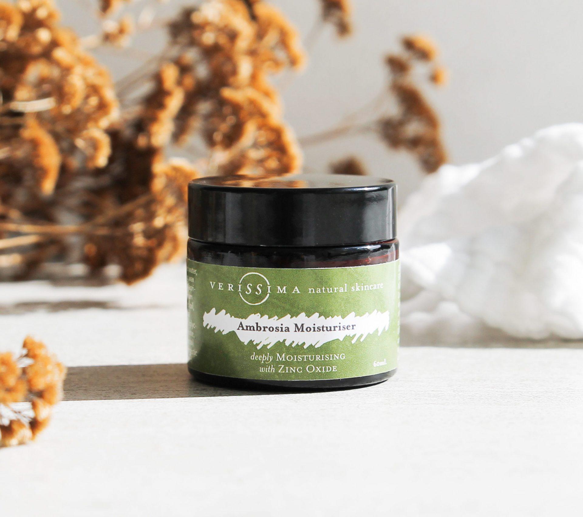 Natural Sunscreen| Ambrosia Moisturiser | Verissima Natural Skin Care